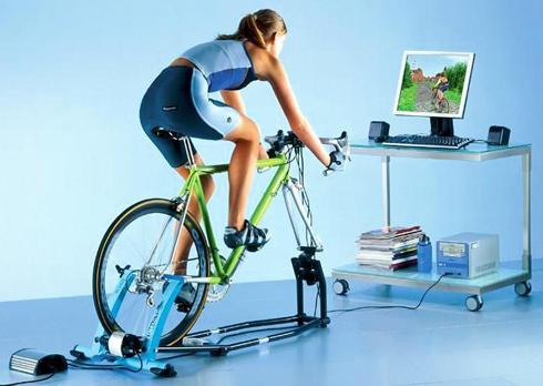 Велотренажер-симулятор