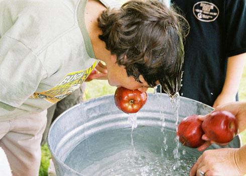 Игра с вылавливанием яблока