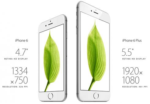 Характеристики iPhone 6 и iPhone 6 plus