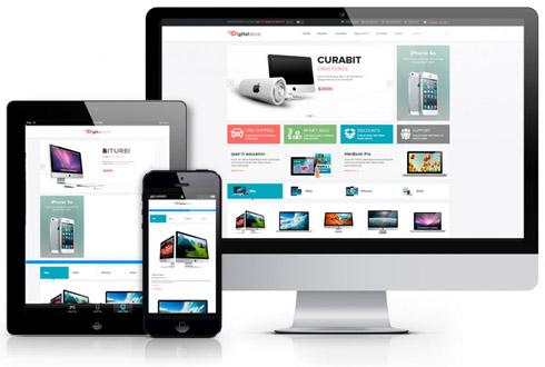 Интернет-магазин представляет собой отдельный сайт