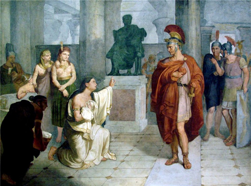 Cleopatra Kneels Before Anthony (Luigi Fioroni)