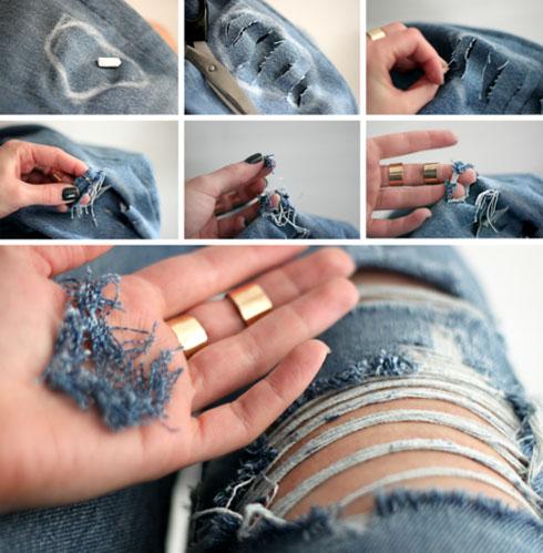 Рваные джинсы в домашних условиях