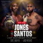 Где посмотреть видео боя Джонс vs Сантос?